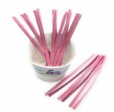"1000pcs 4"" Light or Rose Pink Metallic Twist Tie for Candy Lollipop Cello Bag"