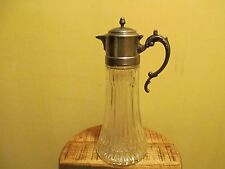 New listing Vintage Claret Jug with silver plated lid Decanter
