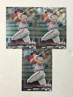 AUSTIN RILEY LOT OF 3 2017 Bowman Chrome Prospects ROOKIE RC's #BCP161! BRAVES!