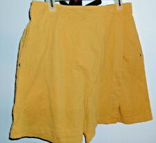 Skort/Short by Catilina Yellow Wrap Elastic Waist Pullon Stretch Size XL