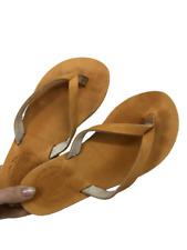 The Sandalman Womens Sandal Flip Flop Leather Handmade Thong Yellow Size 5 NEW