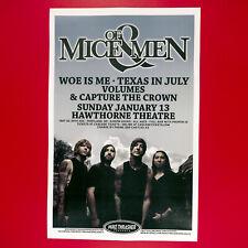 Of Mice & Men 2013 Original 11x17 Concert Poster. Portland Oregon.