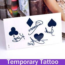 Tattoo Impermeable Fiesta Poker Ace Jack Body art tatuaje temporal Reino Unido