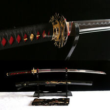 hand forge differential hardened T10 clay tempered japanese Katana samurai sword