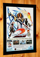 Drakengard Video game Rare Small Poster / Old Ad Page Framed PS2 Square Enix