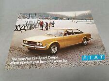 1970 FIAT 124 SPORT COUPE  Original Sales Leaflet