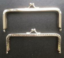 Two Metal Purse Clasp Frames for handmade items