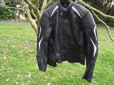 HEIN GERICKE Black Leather Motorbike Protective Jacket UK34/EU44/US34 [USED]