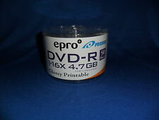 EPRO DVD-R 16X DISC - FOR VIDEO / DATA - 50 DISCS/SPINDLE - 1 SPINDLE - GLOSSY