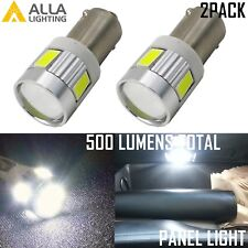 AllaLighting LED Instrument Panel Light Dash Board/Radio Display Bulb Lamp,White