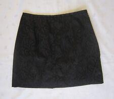 WORTHINGTON Petite Black Paisley Jacquard Above Knee Mni Skirt ~ Size 6P ~ NWOT