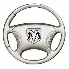 Dodge Ram Head Key Ring Chrome Steering Wheel Keychain