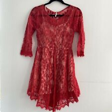 Free People Women's Floral Lace Dress Size 2 Red