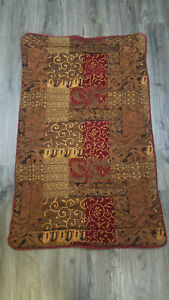 Croscill Galleria Red Bronze Gold KING Pillow Sham Chenille