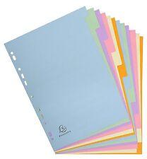 A4+ archivo extra ancho 12 parte Pastel divisores para siempre Reciclado
