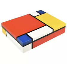 Piet Mondrian Lacquered Box Excellent Cond. 12.5x9.5x2.5 Stationary Box