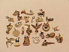 RETRO ASSORTED LOT 26 SILVERTONE CHARMS and ONE GOLDTONE CHARM