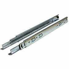 "Side Mount Ball Bearing Drawer Slides with 1"" Over-Travel (10 Pack) 20 Inch"
