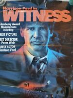 Vintage poster Harrison Ford 1986 Witness Original Movie Condition acceptable