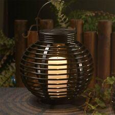 Solar Powered Rattan Outdoor LED Candle Lantern For Garden Patio Decking Lantern