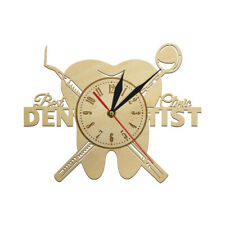 Dentist Equipment Dental Office Teeth Wall Sign Clock Orthodontist Wood Watch