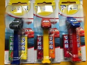 Disney Cars Pez Dispenser Lightning Mcqueen Jackson Storm Blue Mcqueen