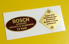 BOSCH Blue 12V Coil Sticker Decal set Vintage 1950's PORSCHE 356 911 BMW VW