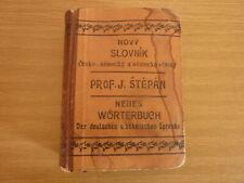 WÖRTERBUCH der böhmischen & deutschen Sprache 1920 LEDEREINBAND 10 x 13,5 x 4 cm