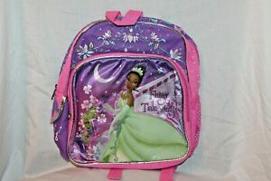 """NEW  WITH TAG THE PRINCESS AND THE FROG  BACKPACK   10"""" X 12"""""""