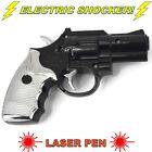 Electric Shock Gun Black Pistol Laser Light Prank Novelty Trick Party UK SELLER
