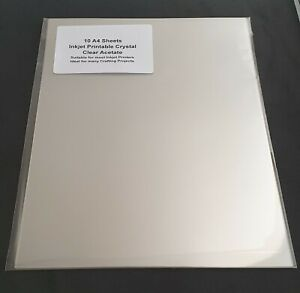 10 Sheets - Printable Acetate Film - A4 Inkjet - Crystal Clear Transparency OHP