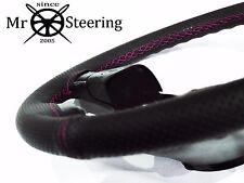 Para MG TF enano 53+ Cubierta del Volante Cuero Perforado Rosa caliente doble STT