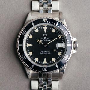 1990 Tudor Submariner watch Vintage Diver Rolex  36mm  75090  Swiss