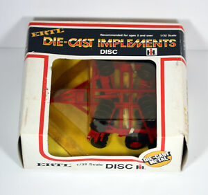 Vintage ERTL 1/32 Diecast IH Int Harvester Implements Disc 1553 New in Box