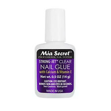 Mia Secret Strong Jet Clear Nail Glue w/ Calcium & Vitamin E 14g / 0.5 oz (335)