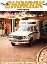 1976 Toyota Truck Motorhome Camper Chinook Original Car Brochure Folder