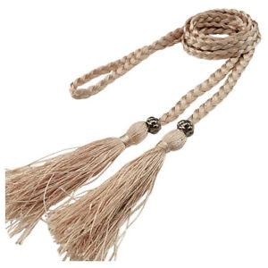 Women Chinese Braided Style Woven Tassel Belt Knot Decorated Fashion Waist Chain