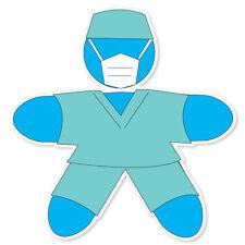 "Surgery surgeon medical doctor bumper sticker 4"" x 4"""