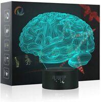 3D Illusion Lampes Créativité, LED Veilleuse 7 Couleurs Tactile Interrupteur USB