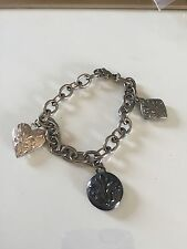 Stainless steel Titanium 925 STERLING charm BRACELET WITH multiple charms
