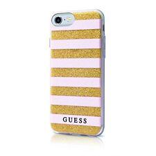 Coque pour iPhone 8-7 Guess Stripes 3d Rose Dorée