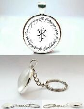 The Lord of the Rings - Elf Symbol - Silver Tone Photo Glass Dome Keyring