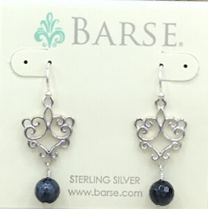 Barse Divine Beaded Earrings- Mixed Stones- Sterling Silver- NWT