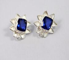 Handmade Stud Earring Jewelry Mjc7760 Tanzanite Quartz .925 Silver Plated