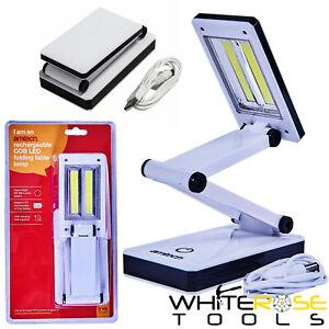 Amtech Rechargeable Light Lamp USB COB LED Folding Table Work Study Reading