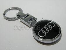 GIFT IDEA CHROME KEY CHAIN KEYRING AUDI A1 A2 A3 A4 A6 A8 TT QUATTRO CAR