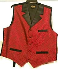 """Sass Cowboy"", ""Old West"" Gambler Vest, Brand New Size Large"