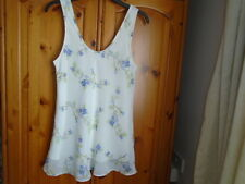 Ivory, lilac and green floral short chemise, SSSHHH INTIMATES, size 10