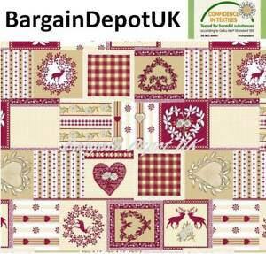 Christmas PVC Wipe Clean Vinyl Tablecloth ALL SIZES - Code: C56-1