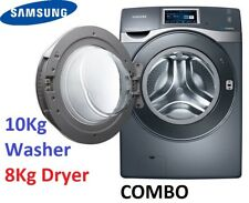 Samsung 10Kg/8Kg Washer Dryer Combo WIFI Touch screen WD10F8K9ABG StainlessSteel